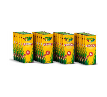4 ct Crayons - 24 boxes per case pack