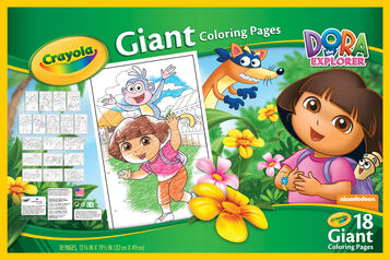 Giant Coloring Pages - Dora the Explorer