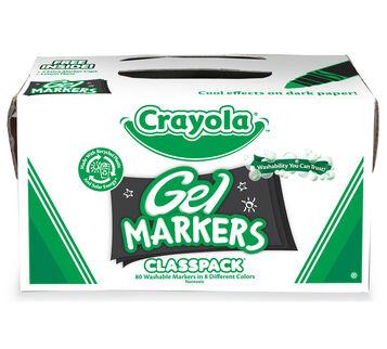 80 Count Gel Fx Markers Classpack, 8 Colors