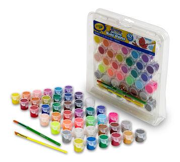 Washable Paint Pots 42 count open package