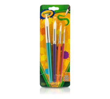 4 count Round Paintbrushes front