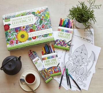 Creative Escapes Coloring Set- Large Gift Set