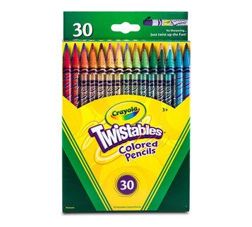 Twistables Colored Pencils, 30 Count