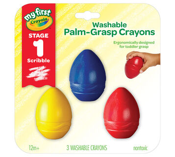 My First Washable Palm Grasp Crayons 3 count Crayons