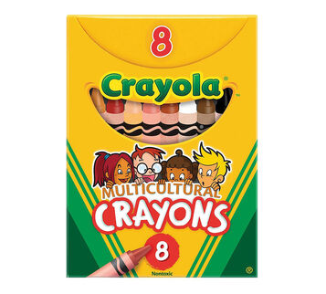 8-Count Multicultural Crayons