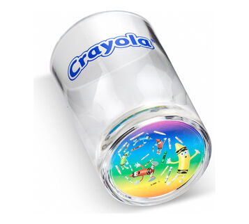 Rainbow Tip Swirl Acrylic 3 oz Cup