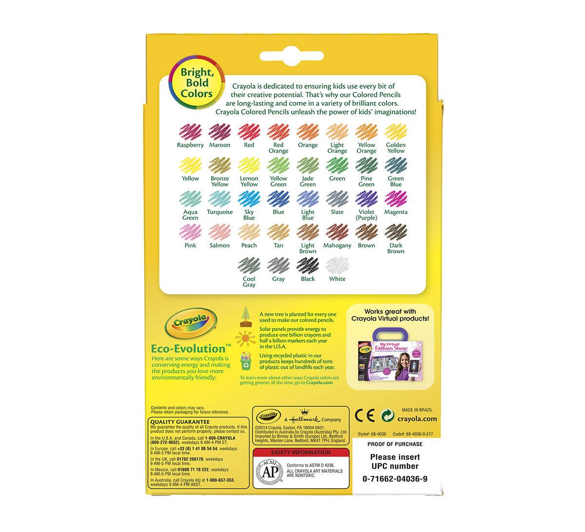 Colored Pencils, Long 36 ct. - Crayola 14.5.0.8