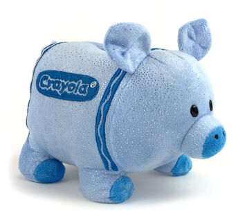 Plush Piggy Bank-blue