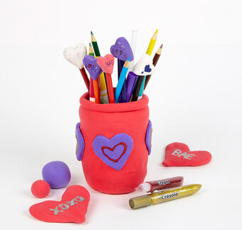 Valentine's Day Craft Kit for Heart Pencil Toppers