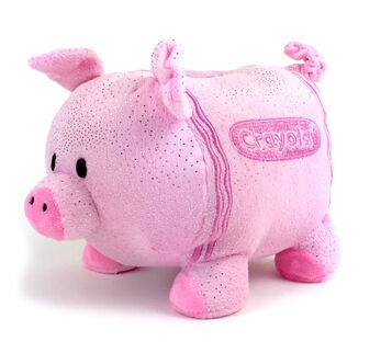 Plush Piggy Bank-pink