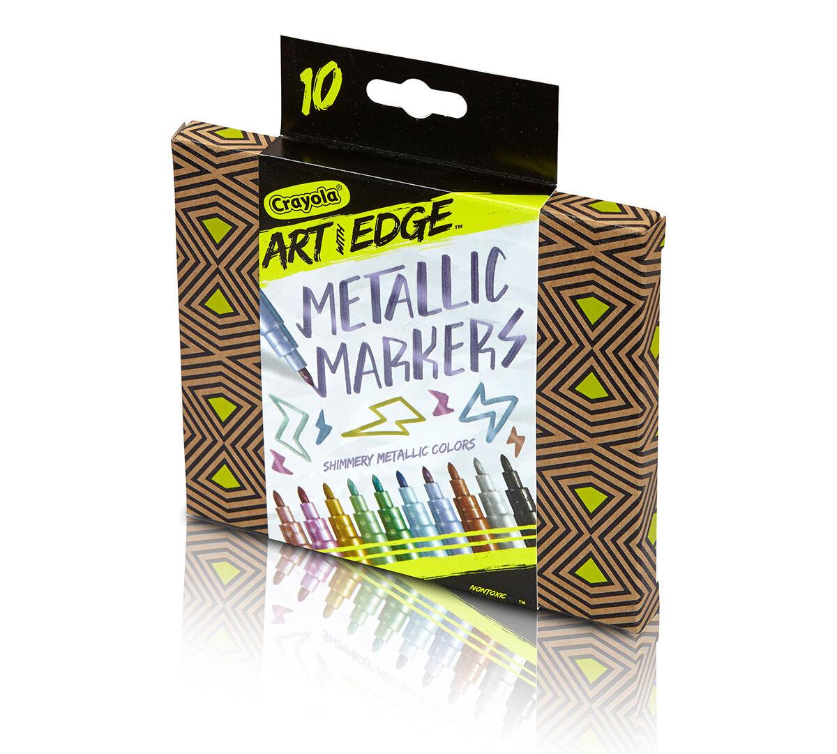 Crayola Art With Edge Metallic Markers Art Tools 10