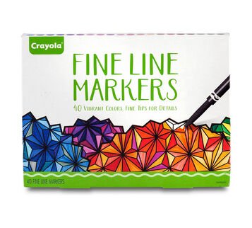 Adult Coloring, 40ct Fine Line Markers