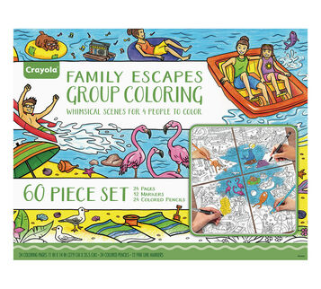 Adult Coloring, Family Escapes Gift Set, Whimsical Destinations