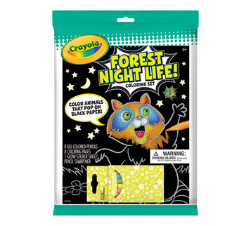 Forest Night Life coloring set front of package