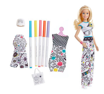Barbie® Crayola® Color-in Fashion Doll and Fashions