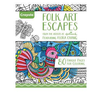 Creative Escapes Folk Art Escapes Coloring Book