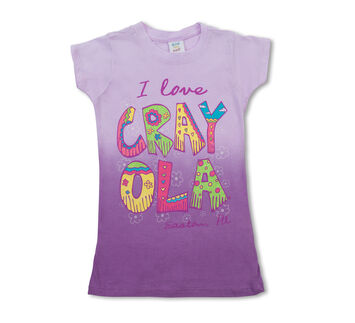 Crayola Girls' Ombre I Love Crayola T-Shirt