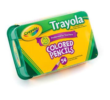 Crayola 54 Count Trayola Colored Pencils, 9 Colors