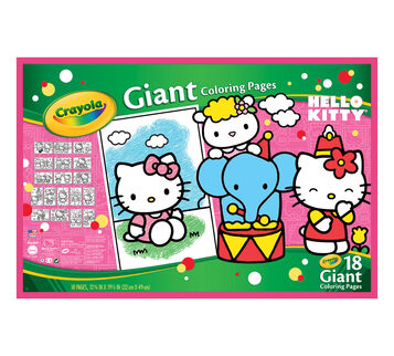 Giant Coloring Pages - Hello Kitty