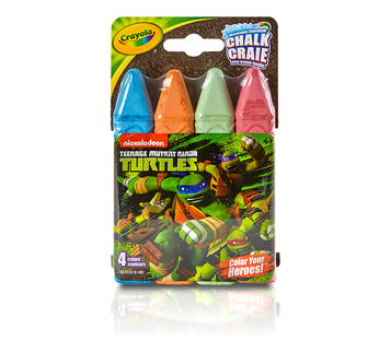 4 ct. Teenage Mutant Ninja Turtles Washable Sidewalk Chalk - Color Your Heroes!