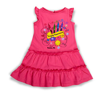 Pink Toddler Crayola Banner Dress