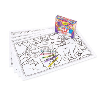 Crayola Uni-Creatures Coloring Bundle with Custom 64 ct. Crayons
