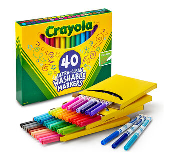 40 Count Ultra-Clean Markers, Fine Line