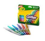 6 ct. Glitter Markers