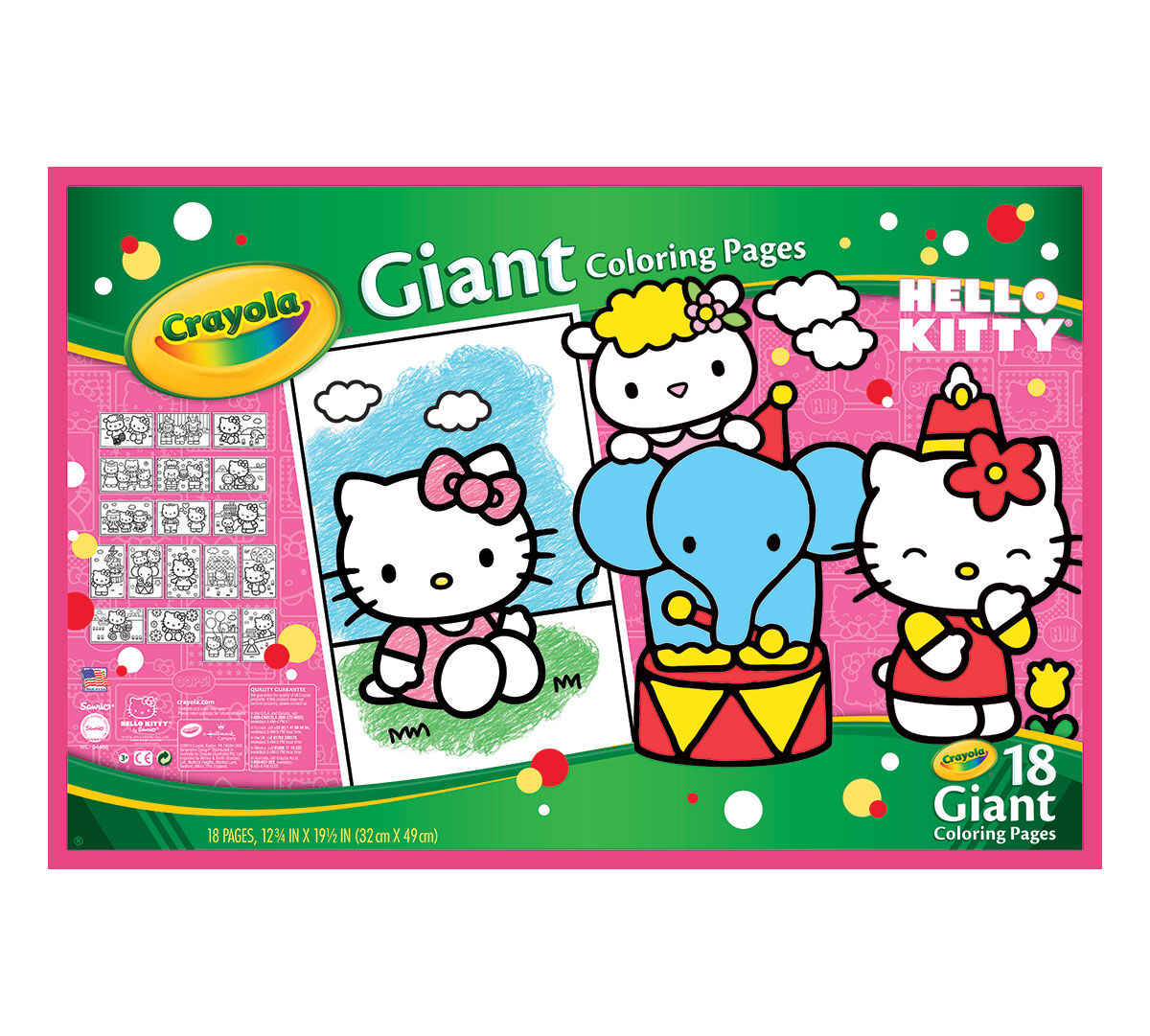 Crayola Coloring Pages Hello Kitty : Crayola giant coloring pages hello kitty  ebay
