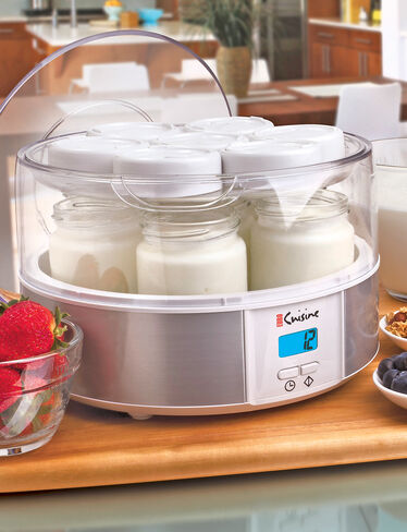 Yogurt maker for homemade yogurt euro cuisine yogurt for Automatic yogurt maker by euro cuisine