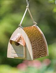 Hammered Copper Birdhouse