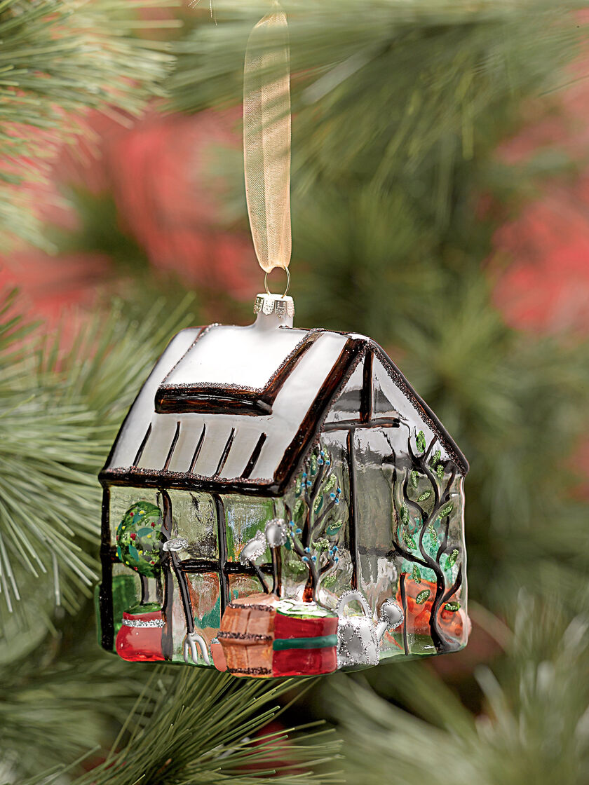 Glass Greenhouse Christmas Ornament Gardener S Supply