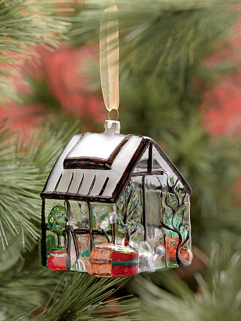 Glass Greenhouse Christmas Ornament Gardener S Supply