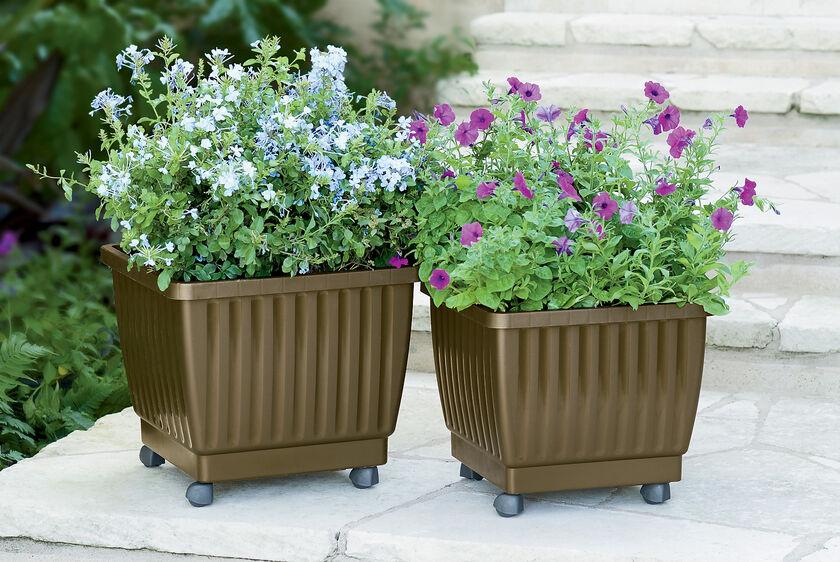 Self Watering Rolling Planter 17 Quot Gardener S Supply