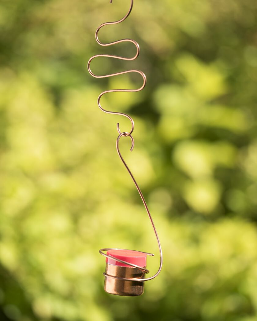 Copper Hummingbird Feeder Decorative Hummingbird Feeder