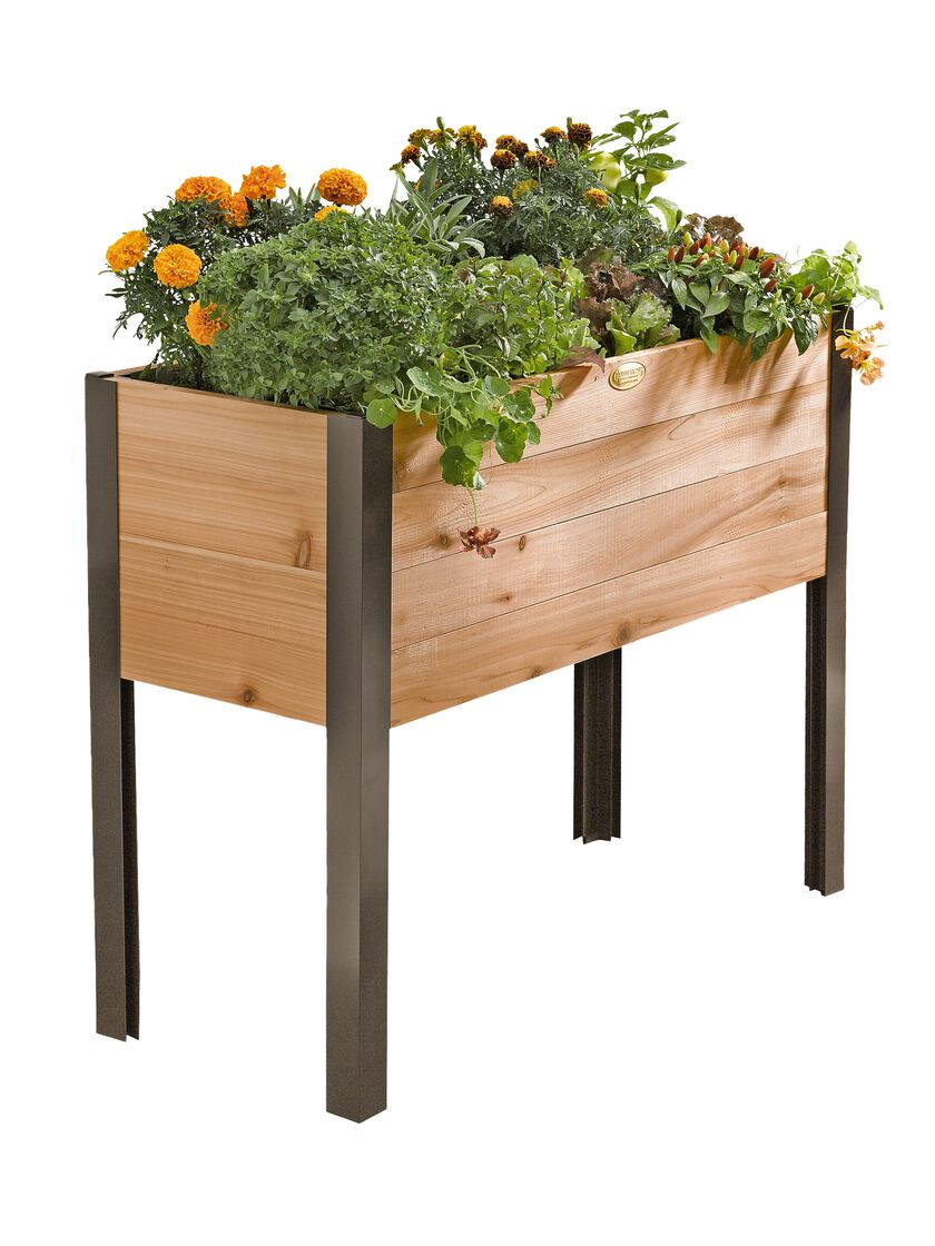 Elevated garden beds on legs elevated planter box made for Landscape gardeners