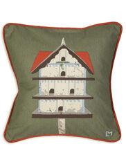 "Birdhouse Throw Pillow, 18"""