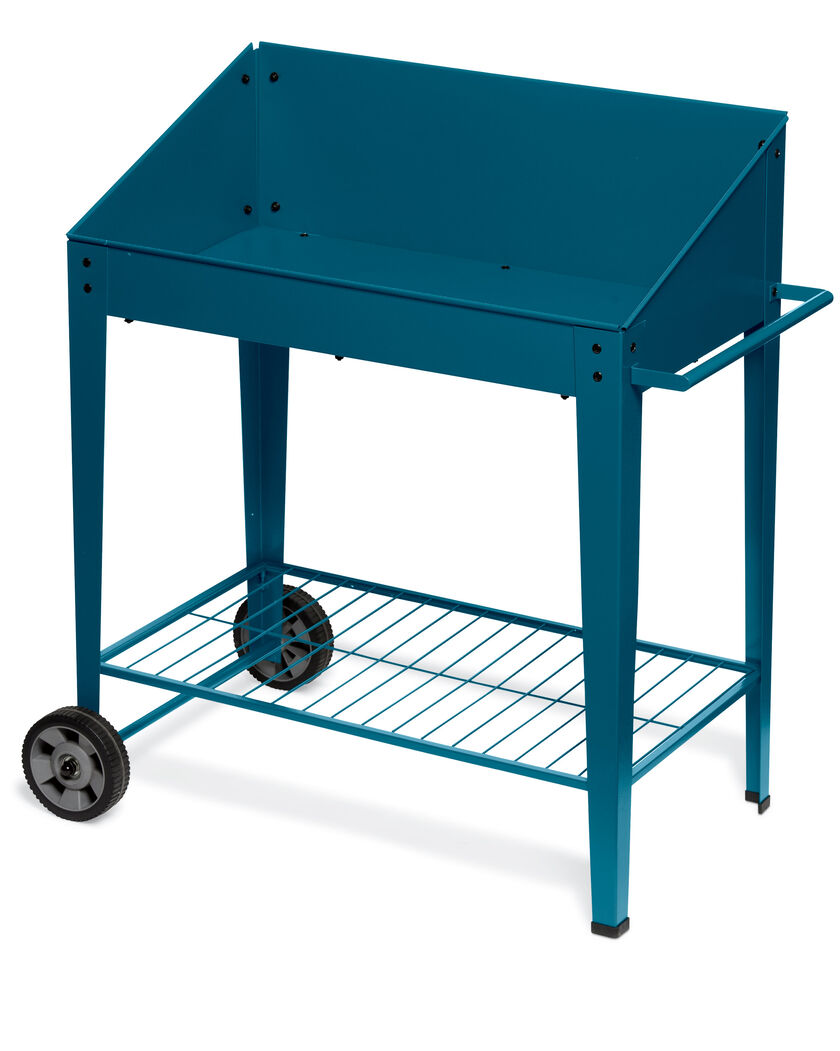 Demeter Metal Potting Bench With Wheels Mobile Potting Bench