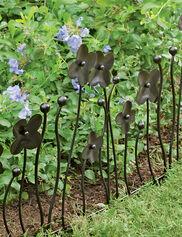 Decorative Garden Edging, Flower, Set of 3