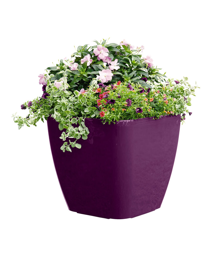 self watering pots large square planters self watering rolling planter 30073