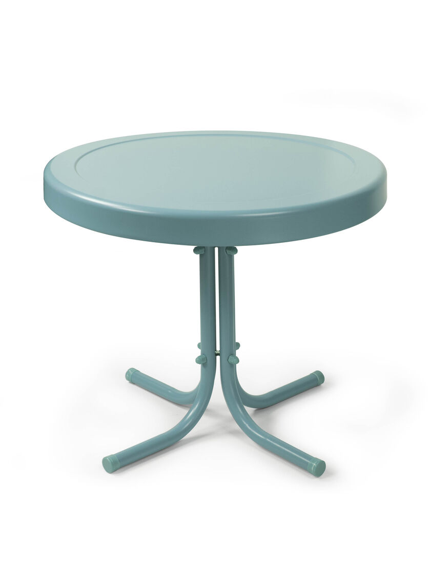 Metal side table round retro side table for Html table style