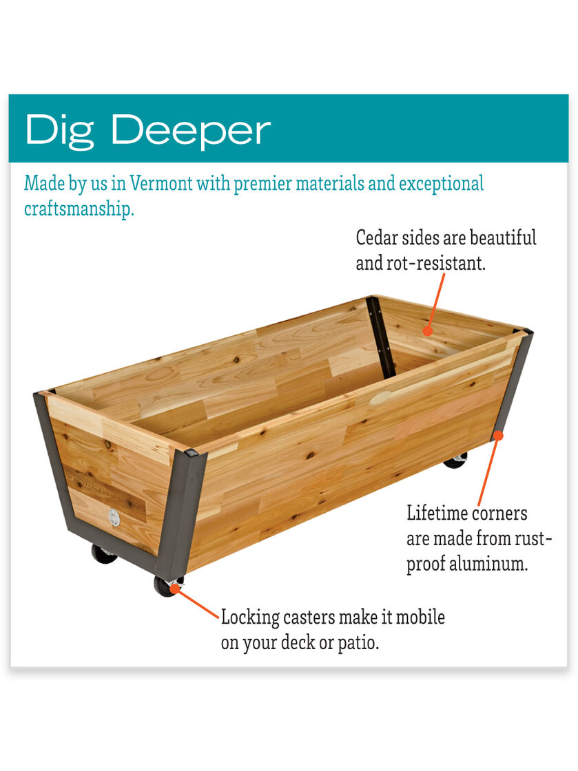 Rolling Planter Box U Garden Bed On Wheels Gardeners Com