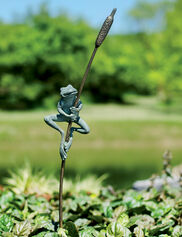 Frog and Cattail Stake