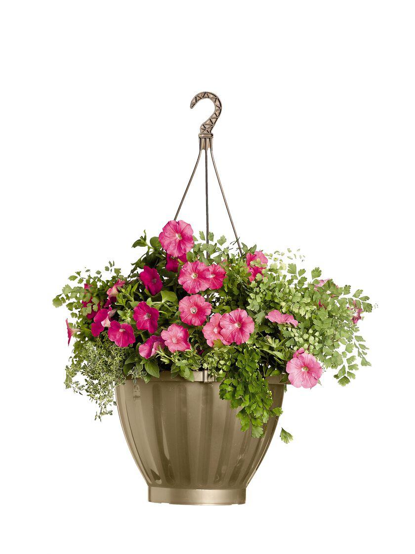 Hanging Flower Basket Maintenance : Jumbo self watering hanging planter in colors gardener