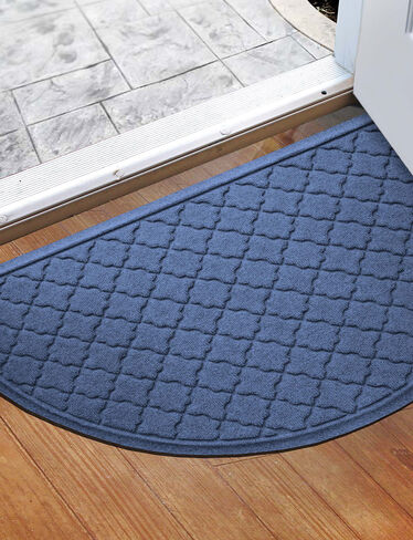 Half Round Doormat With Trellis Design Water Glutton Cordova 2x3