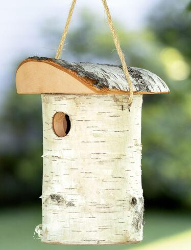 Birch Bird House Birch Birdhouse Rustic Wood Bird House