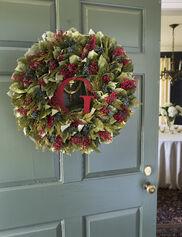 Personalized Preserved Cedar Wreath