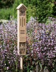 Wooden Insect Hotel with Stake