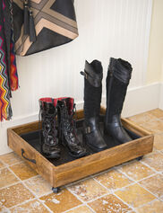 Wooden Boot Tray, Small