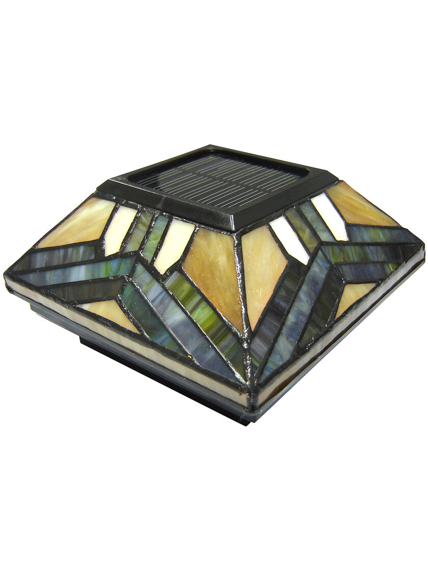 Stained Glass Solar Post Cap Lights 4x4 Or 5x5 Solar